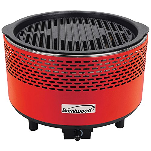Brentwood BBF-21R Non-Stick Smokeless Portable BBQ, Red