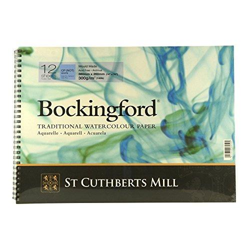 Bockingford Watercolor Spiral Pad 10 X 14 White 140 Pound