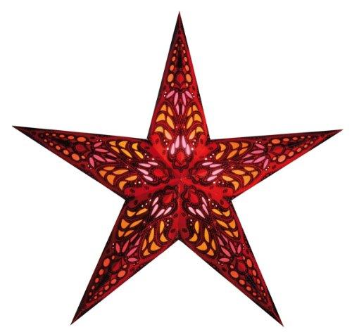 starlightz E01208 papierstern,leuchtstern mercury red