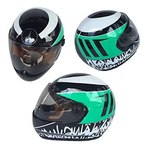 LIUDOU Motorräder Helm Racing Helm Auto Kleiner Helm Autozubehör Spielzeug Helm F1 Racing Helm Kopfschutz-Sicher-Hut Kleine Outdoor Caps