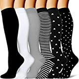 Compression Socks - Compression Sock Women & Men - Best Running, Athletic Sports, Crossfit, Flight...