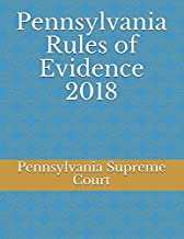 Pennsylvania Rules of Evidence 2018