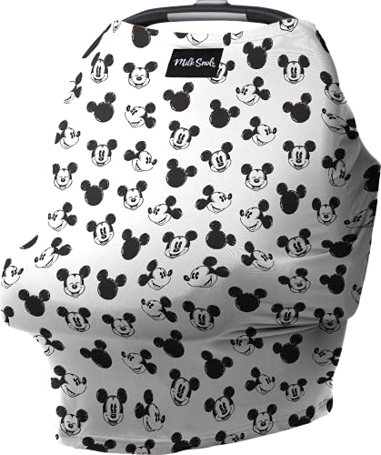 Milk Snob Original Disney 5-in-1 Cover Mickey Mouse Sketch, Privacy for Breastfeeding, Baby Car Seat, Carrier, Stroller, High Chair, Shopping Cart, Lounger Canopy - Newborn Essentials, Nursing Top