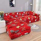 ASCV Fundas de sofá elásticas Impresas para Sala de Estar Funda de sofá Esquina en Forma de L Chaise Longue Sillón Sofá Funda A7 1 Plaza