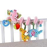BOBORA Juguetes Colgantes Espiral Juguetes Cochecito para Bebés y...