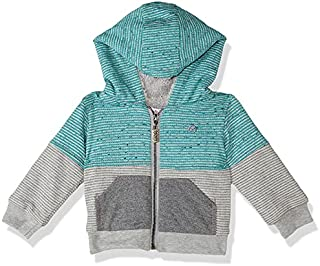 Giggles Striped Front Pockets Zip-up Hooded Jacket for Boys