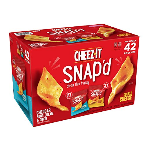 Cheez-It Family Favorite Snap'd Snack Crackers Variety Pack Perfect For Kids And Adults - 42 x 0.75 oz