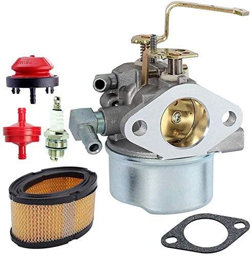 640152 Carburetor for Tecumseh 640152A 640023 640051 640140 640260B HM80 HM90 HM100 8hp -10hp Tecumseh Engine Coleman PowerMate 5000 watt Generator Carb with Air Filter Spark Plug kit