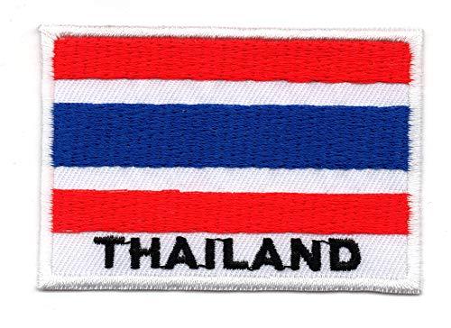 Parche bordado bandera Tailandia coser planchar