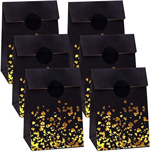 Hbno30 Stück Bronzing Gold Candy Bags, Herz