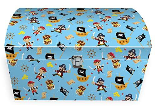Idena 30214 Spielzeugtruhe, Schatzkiste, Pirat, Junge, bunt