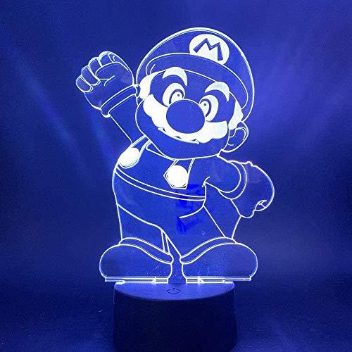 Linterna mágica 3D luz de noche led niños de dibujos animados color cambiador sensor táctil regalo exquisito lámpara de mesa de dibujos animados mejor regalo de cumpleaños de vacaciones