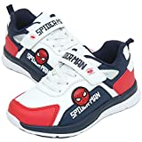 [スパイダーマン] Spider-Man キッズ 男の子 ベルクロ スニーカー シューズ 運動靴 (16.0 cm, ホワイト&ネイビー) [並行輸入品]