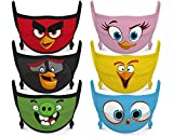 Angry Birds Kids Face Mask Reusable Cloth Face Masks Set (Pack of 6)