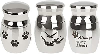 F Fityle 3Pieces Mini Keepsake Urn Small Cremation Urn For Ashes Funeral Urn