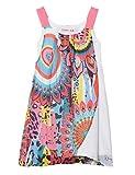 Desigual Girl Woven Dress Straps (Vest_Harare) Vestido, Blanco (White 1000), 116 (Talla...