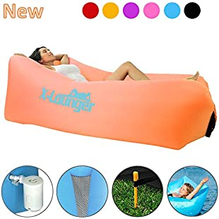Inflatable Air Lounger with Air Valve Easy Inflated by Air Pump or Wind 2018 New