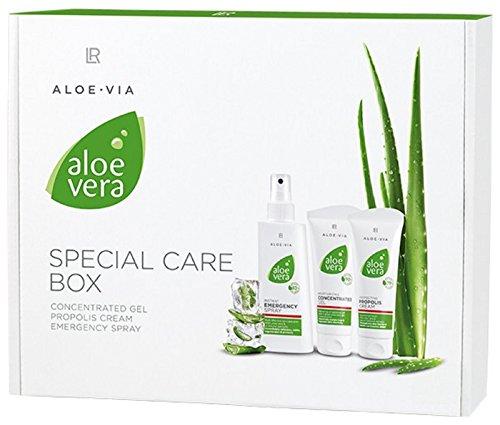 LR Aloe Vera Coffret à l'aloe vera avec concentré 100ml au propolis 100 ml et spray de premiers secours 150ml, 350ml