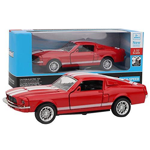 Tnfeeon Klassische Druckguss Modell 1:32 Mini Stimulation Legierung Zurückziehen Auto mit Licht und Ton Fahrzeuge Form Skala Auto Spielzeug Geschenke für Jungen Mädchen Kleinkinder(rot)