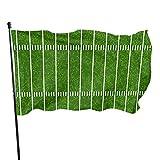 NHCY Drapeau de Jardin résistant aux intempéries Rugby Field, Drapeau de Jeu Durable, Un côté (3 X 5 pi) | Polyester