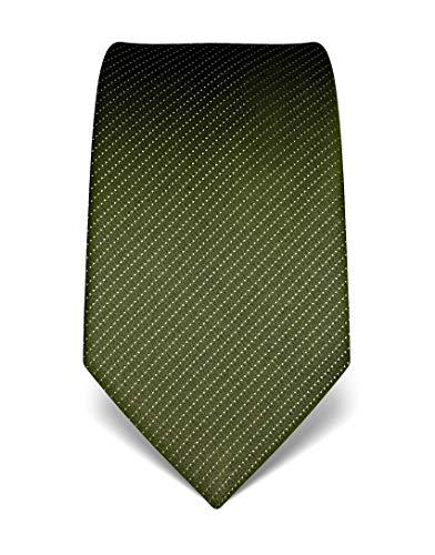 Vincenzo Boretti Corbata de hombre en seda pura, de rayas verde oscuro