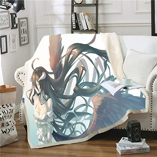 Cartoon Anime Quadratic Element Blanket 150X200CM,  Throw on Crib Plane for Baby Kids Boys Birthday Gift