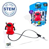 MUKIKIM TracerBot - Red – Mini Inductive Robot That Follows The Black Line You Draw. Fun, Educational, and Interactive STEM Toy with Limitless Ways to Play! Promotes Logic and Creativity Training