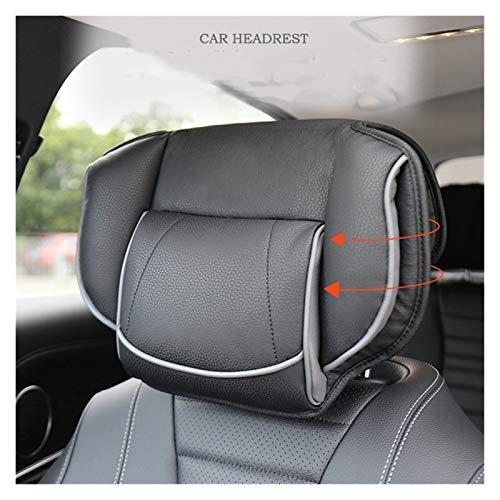 Accesorios de decoración de coches Almohada del reposacabezas del asiento del coche universal, almohada de cuello de espuma de espuma de espuma de memoria de asiento ajustable ( Color : Black )