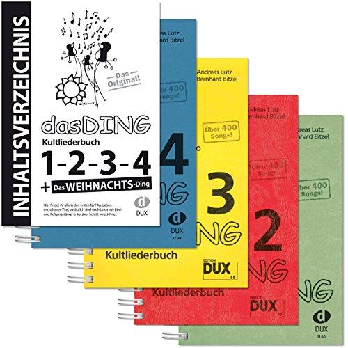 Dux Das Ding Band 1 bis 4 | Kultliederbücher inkl. Original Inhaltsverzeichnis