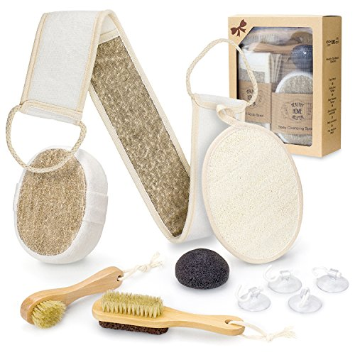 Bath Body Spa Gift Set for Home Spa - Complete Scrub Kit Accessory...