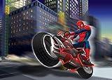 1art1 Spider-Man - Motorrad Fototapete Poster-Tapete 160 x 115 cm