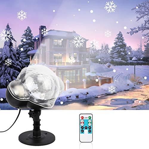 TYSYA Kerstmis dynamische snowflake licht sneeuwval beamer waterdicht tuin gazonlamp buiten voor de familie party vakantie decoratie