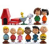 Decoraciones para Tartas Snoopy de Cumpleaños Figuras de snoopy figura de cómics para decoraciones de fiesta de cumpleaños para niños