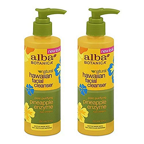 Alba Botanica Hawaiian Enzyme Face Cleanser, Pineapple, 8 oz (2pack)