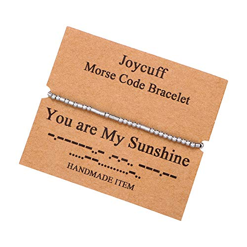 You are My Sunshine Morse Code Bracelets for Women Funny Simple Handmade Fashion Trendy Fashion Bracelet Birthday Gifts Wrap Bracelet Jewelry