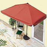 EASYmaxx Sonnenschirm 'Balkon/Terasse rechteckig' | Lässt sich passgenau an der Wand platzieren | Mit praktischer Handkurbel, UV-Schutz 40+ | 230 x 140 cm [Sommerliches Terrakotta]