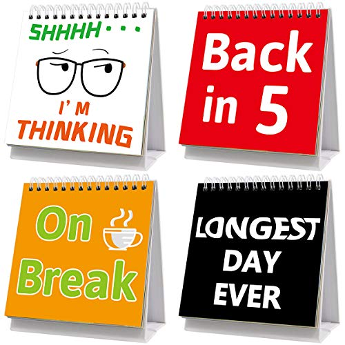 Funny Desk Signs 30 Different Fun and Flip-Over Messages for Office Gifts Desk Accessories