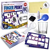 Spy Fingerprint Kit for Kids, FunKidz Detective Spy Kit Science Experiments with Finger Print Identification Set Spy Gear Scene Investigations Perfect Educational Toys for Boys & Girls Age 6+