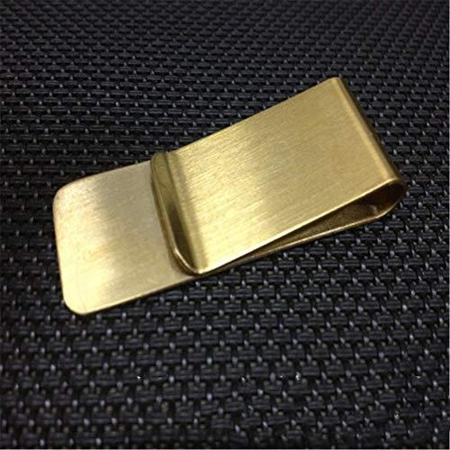Portafogli segnalibri in metallo Portafogli in metallo Portadocumenti da viaggio Segnalibro Portafoglio in ottone in acciaio inossidabile 20 * 55 * 0,8 mm