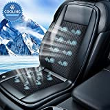 Cooling Car Seat Cushion- 10Fans & 3 Adjustable Temperature 12/24V System- 15s Cool Down Fast for Summer Driving- Breathable Seat Cover with Air Conditioning System- 1 Pack (Grayish)