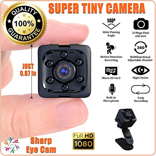 Tiny 1 Spy Camera Wireless Hidden with Audio and HD Video. Night Vision, Motion Detection, 70 Min Loop Recording, Card Reader. Ideal for Nanny, Pet, Safety and Security. Clear and Easy Manual