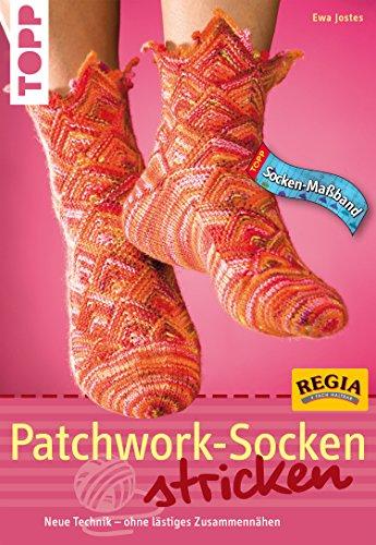 Patchwork-Socken stricken: Neue Technick - ohne lästiges Zusammennähen