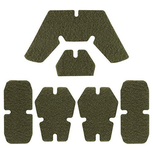Tactical Helmet Enhanced Hook and Loop Fastener Set for AirFrame Fast ACH MICH Helmet (OD)