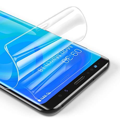 RIWNNI [3 Stück Schutzfolie für Samsung Galaxy S8 Plus, Ultra Dünn Weiche TPU Displayschutzfolie (Nicht Panzerglas), HD Klar Displayschutz Folie Full Screen für Samsung Galaxy S8 Plus - Transparent