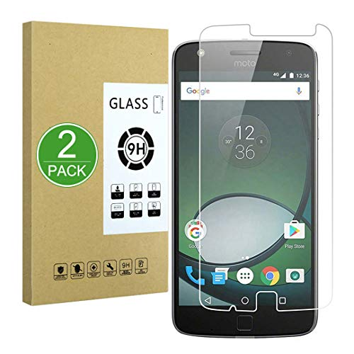 X-Dision Pellicola Protettiva Compatibile con Moto Z Play, [2-Pezzi] Pellicola Protettiva Premium Serie 2.5D a Doppia Difesa,Vetro temperato 9H, [Anti-Impronte digitali e Anti-graffio]