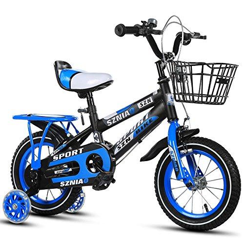 Kinderfahrräder, 2-3-4-6-7-8 Jahre alt männlich und weiblich Kinderwagen 12-14-16-18-20 Zoll Kinder Auto ( Farbe : Blau , größe : 18 inch )