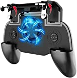 Phone Controller with 4000mAh Power Bank Cooling Fan, YOBWIN Mobile Controller Phone Game Mobile Trigger Joystick L1R1 Gamepad Grip Remote for 4-6.5 Inch Android iOS