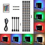 TV Striscia led di illuminazione Kit, Luce Della Striscia di USB LED di 50cm Multicolore con la Porta di USB di CC 5V e Telecomando di IR per la Priorità Bassa del Computer Portatile del Televisore