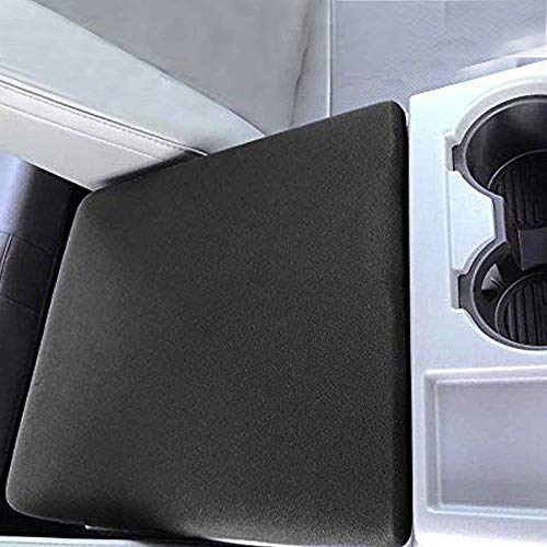 AVOMAR Black Center Console Armrest Soft Pad Protector Cover Compatible with...