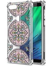 Oihxse Cristal Compatible con Samsung Galaxy Note 9 Funda Transparente TPU Silicona Estuche Airbag Esquinas Anti-Choque Anti Rasguños Diseño Rosa Flower Caso (Flores B1)